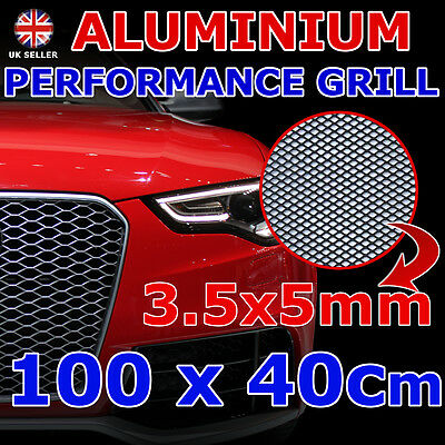 3,5x5mm MESH DIAMOND 40x100cm NET ALUMINIUM BLACK BUMPER RADIATOR AIR INTAKE