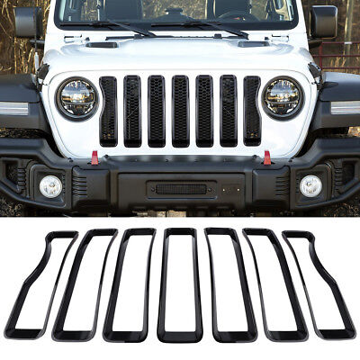 Exterior Front Grille Grill Insert Cover Accessories Trim For Jeep Wrangler JL - Jeep Wrangler Grille Cover