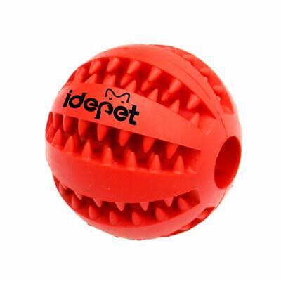 Idepet Cane Giocattolo Palla Non tossico Giocattolo morso Resistente Palla Rosso