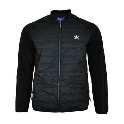 Adidas Originals Mens Superstar Jacket SST Classic Quilted Full Zip Coat - Black