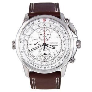 Seiko-SNAB71-Chronograph-Quartz-White-Dial-Brown-Leather-Band-Mens-Watch