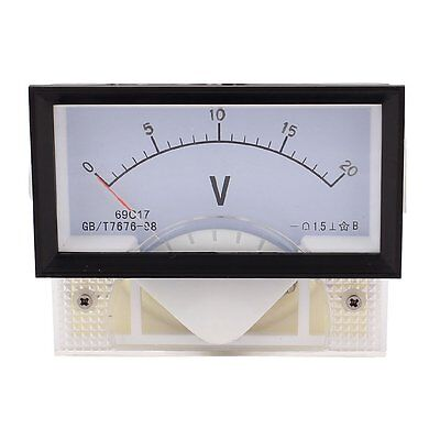 Dc 20v Class 1.5 Plastic Analog Panel Voltage Voltmeter Meter 69c17 Dc 0-20v