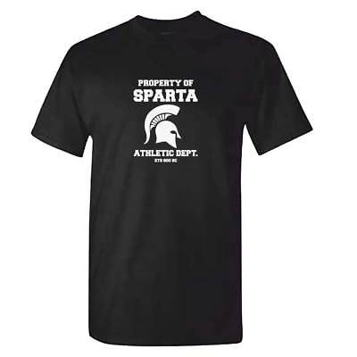 Spartan Funny (Sparta Athletic Department TShirt - Mens Spartan 300 Sports Top Cool Funny Gift)