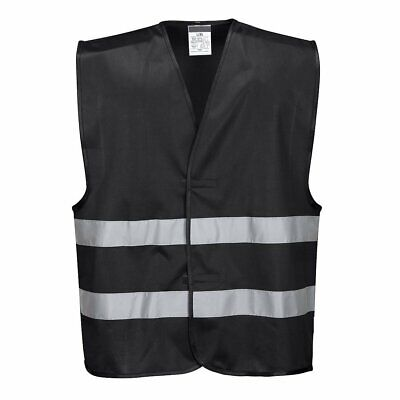 Black Safety Vest Reflective Hi Vis Work And Event Style Vest
