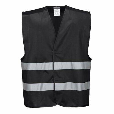 Black Safety Vest Reflective Hi Vis Work And Event Style Vest