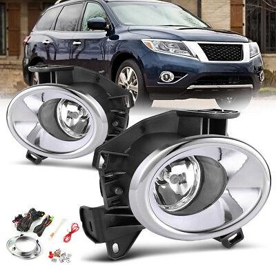 for 2013-2016 Nissan Pathfinder Clear Fog Lights Front Bumper (Nissan Pathfinder Lamp Bumper)
