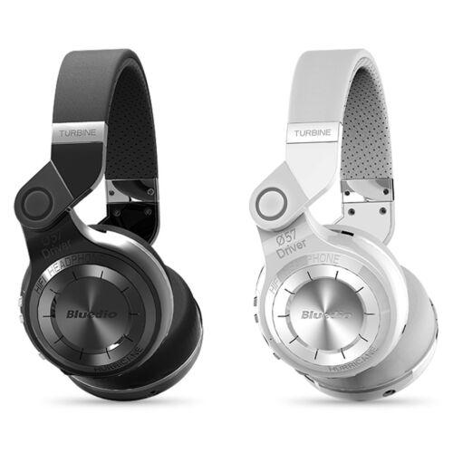 Headphones - BluedioT2 Bluetooth4.1 Stereo Headphone Wireless Mic Foldable Headset blackwhite