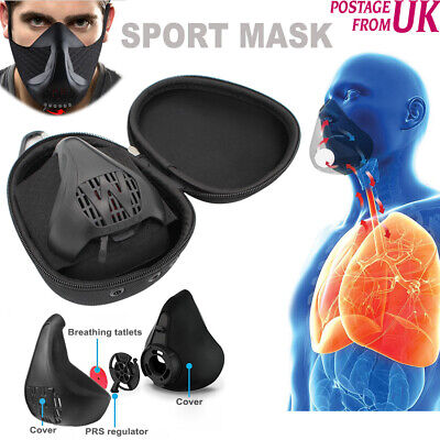 Training Sport Mask High Altitude Workout Fitness Simulation MMA Run Gym Hypoxia