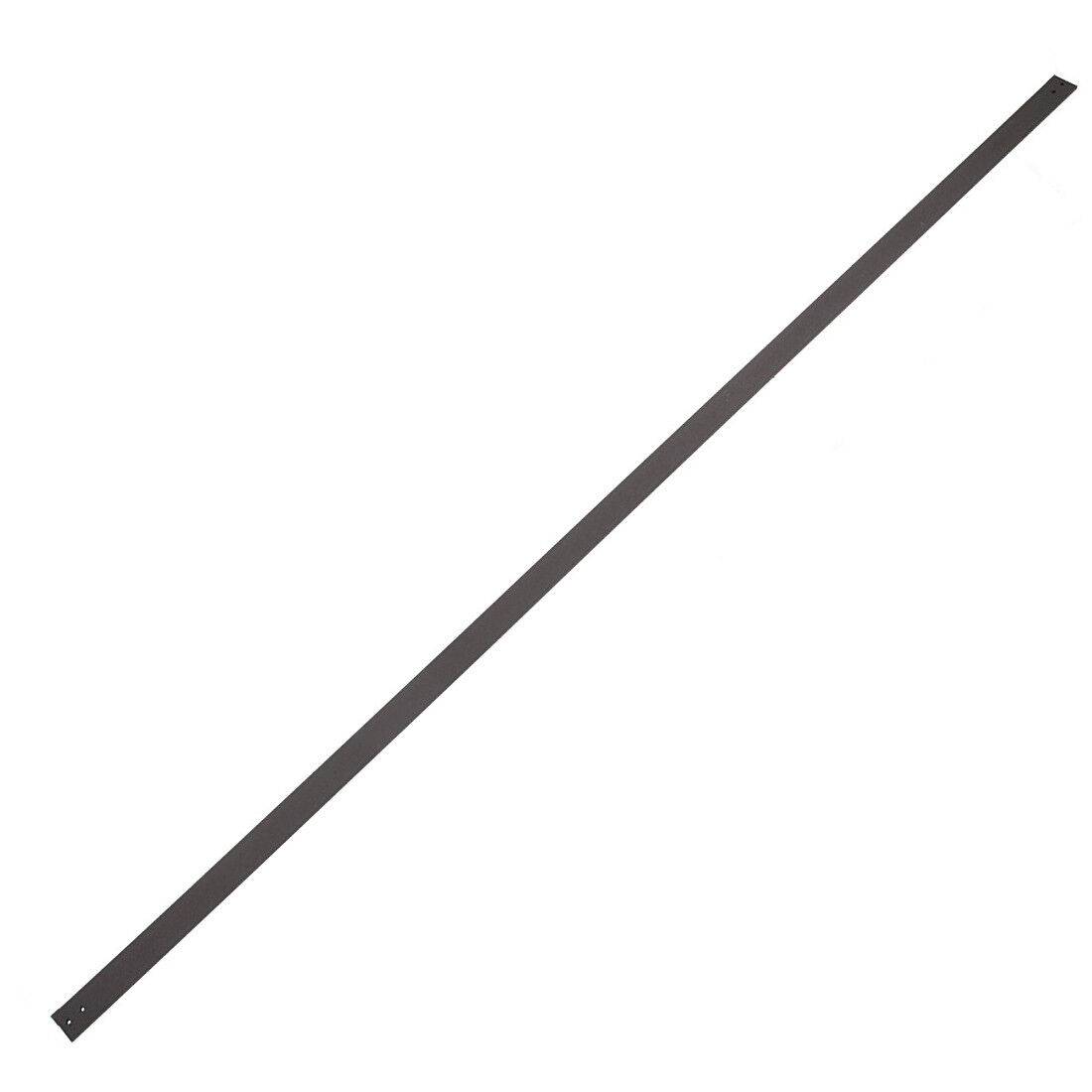 6 FT Steel Sliding Barn Door Flat Rail Track Spare Part No Pre-drilled Holes