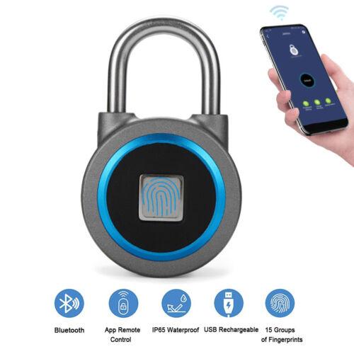 Fingerprint Padlock, Bluetooth Smart Lock, Free App, No key needed, Rechargeable