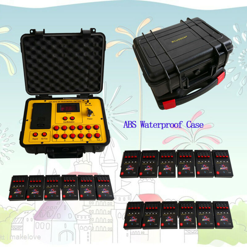 72Cue ABS Waterproof Cas Fireworks Firing System Ballon Wire 500M Remote Control