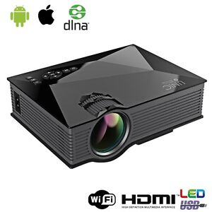 3D HD 1080P LED Mini Home Theater Projector With Airplay WiFi HDMI VGA USD SD