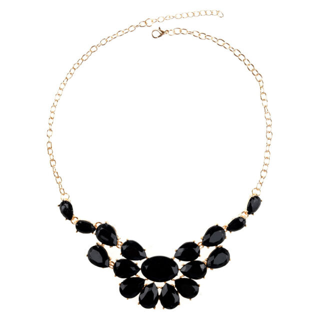 New Fashion Water Drop Bib Statement Pendant Chain Necklaces H0R6