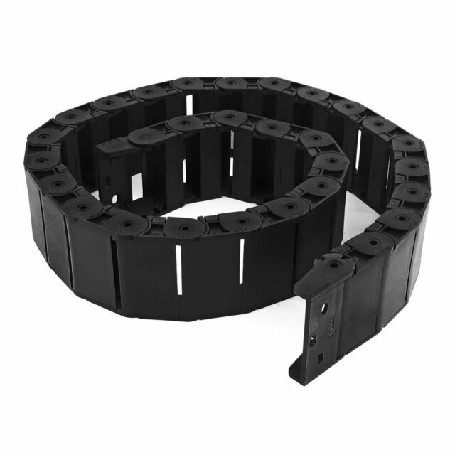 """40.55"""" Black Cable Wire Carrier Drag Chain Nested 18x50mm O8I5"""