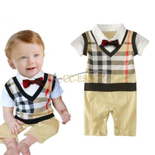 1d8ed438a Newborn Kids Baby Boys Infant Clothes Jumpsuit Romper Bodysuit ...