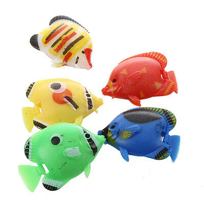Aquarium Artificial Movable Tail Swimming Fish 5 pcs N3