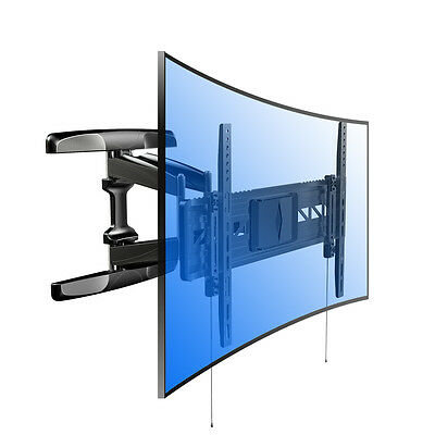Curved HD UHD TV Wall Mount Bracket LCD ULED Articulating 40 42 50 55 60 65 70