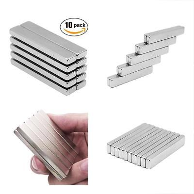 Bar Magnets N45 Rare-earth Metal Strong 33lb Strength 60x10x5 Mm Pack New