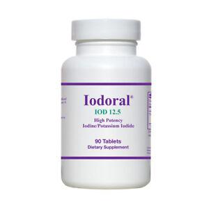 OPTIMOX Iodoral 90 Tablets High Potency Iodine/Potassium Iodide Supplements