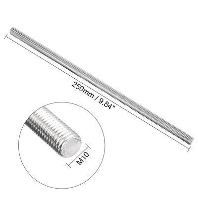 Fully Threaded Rod 304 Stainless Steel 250mm Length Left Hand Thread M4/5/6/8/10