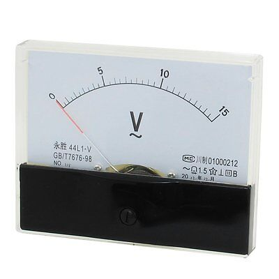 1ac 15v Analog Panel Volt Voltage Meter Voltmeter Gauge 44l1 Ac 0-15v