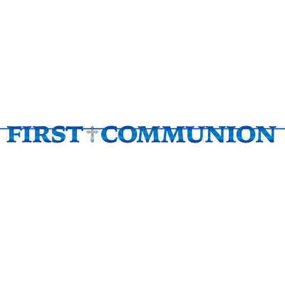 Boys First Communion Religious Celebration 12 Foot Banner](Communion Banners)