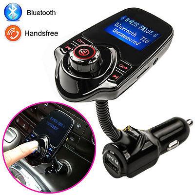 Neu T10 LCD Bluetooth Car Kit Auto FM Transmitter MP3 Musik Player USB Ladegerät