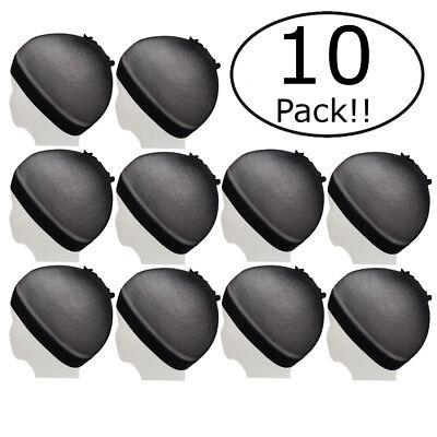 10 Pcs Unisex Stock Mesh Wig Cap Hat Nylon Stretch - Black(10Pcs Black)