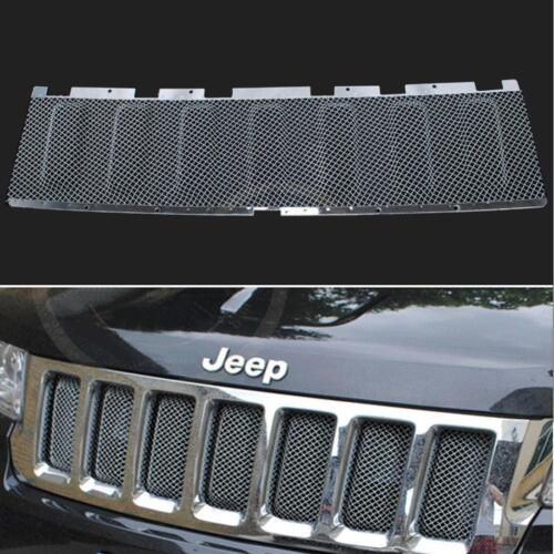front grille bug 3d mesh cover grill insert for jeep grand cherokee 2011 2013 ebay. Black Bedroom Furniture Sets. Home Design Ideas