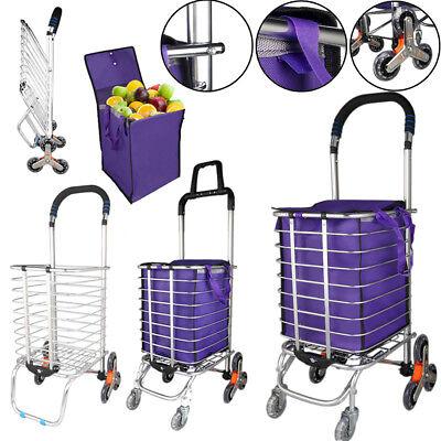 Urban Stair Climbing Cart 68 Wheels Folding Grocery Laundry Shopping Handcart
