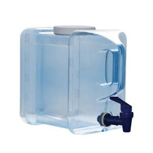 2 Gallon Refrigerator Bottle Drinking Water Dispenser w/Faucet PC Made in USA