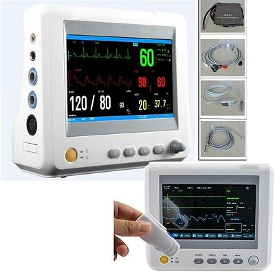 7 Icuccu Patient Monitor 6 Parameter Ecg Nibp Temp Spo2 Pr St Medical Machine