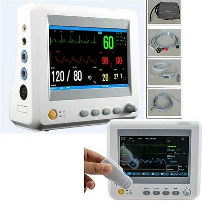7 Inch Patient Monitor 6 Parameter Ecg Nibp Temp Spo2 Pr St Pace-maker Medical 1