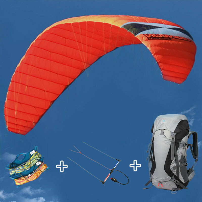 4 Line 7㎡ Power Stunt Kite with Bars & Harnesses for Outdoor Kitesurfing Flying
