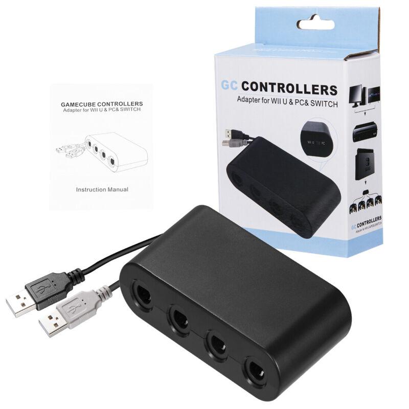 Gamecube Controller Adapter for Nintendo Wii U Super Smash Bros Switch PC USB