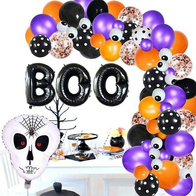 Halloween Balloon Arch Garland Kit for Birthday Party Baby Shower Decorations
