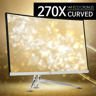 "New 27"" Crossover 270X144 ECO Cronus Curved 1920x1080 FHD 144Hz Gaming Monitor"