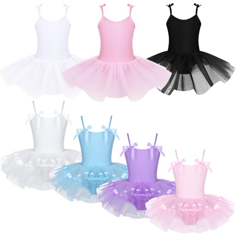 d1a5f9c27257 Girl Kid Dance Outfit Ballet Gymnastics Leotard Crop Top+shorts ...