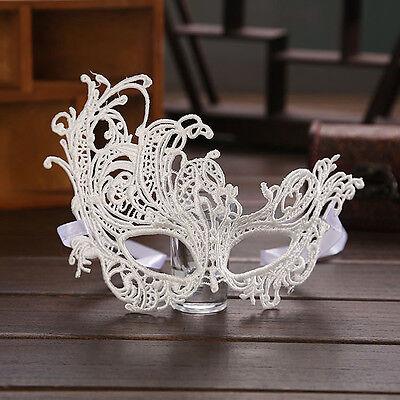 1pcs Spitz Maske Halloween Maskenspiel Party Schwarz Weiß Damen 23CM*14CM ()
