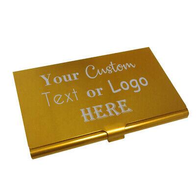 Custom Brush Gold Aluminum Business Card Holder Carrier Case For Networking