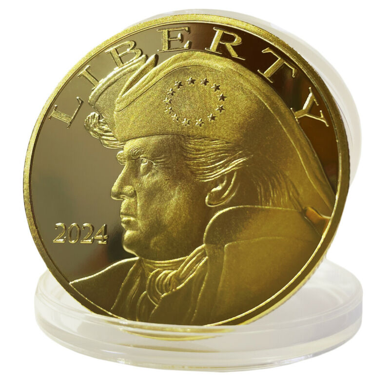 2024 Donald Trump President Gold Coin IN GOD WE TRUST Pirate Captain Coins 1 PC