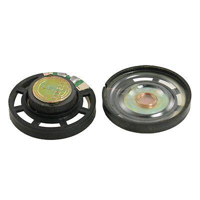External Magnetic Type Round Plastic Shell Speaker 8 Ohm 0.25W 2 Pcs 29mm YM