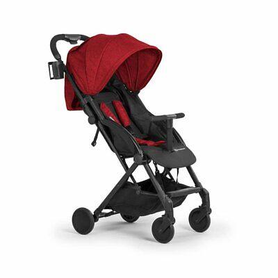 Kinderkraft Stroller PILOT Lightweight Compact Folded Pushchair Pram Buggy Red