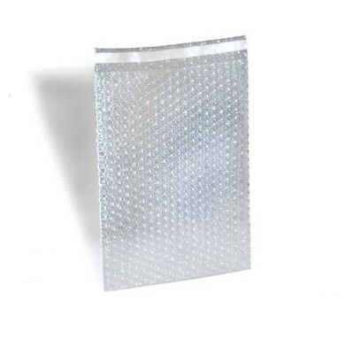 50 9x12 Clear Self-Sealing Bubble Out Bag Pouches from The Boxery