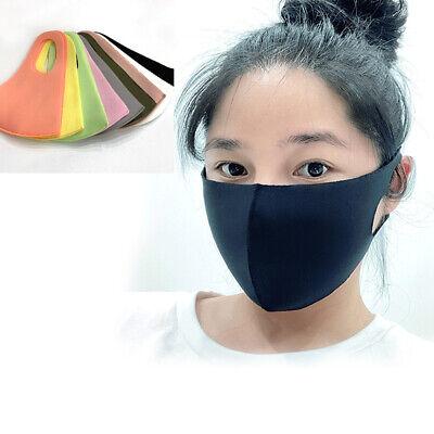 1+1 Pcs Cotton Color Face Mask Korea Cloth Reusable Washable Double Layer Unisex