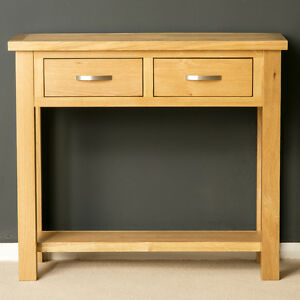 London Oak Large Hall Table / Console Table / Solid Wood Telephone Table / New