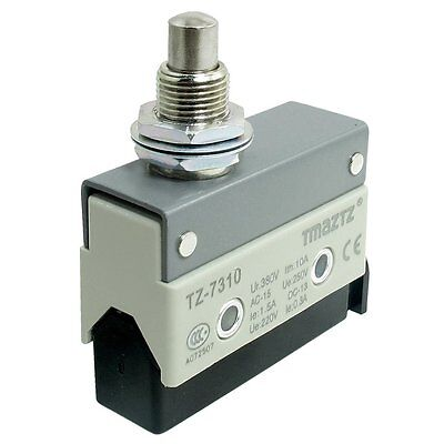 Tz-7310 Panel Mount Plunger Momentary Micro Switch Ui 380v Ith 10a 1no 1nc Spdt