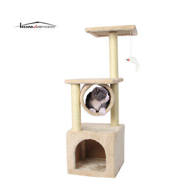 35'' Cat Tree Bed Furniture Scratching Tower Post Condo Kitt