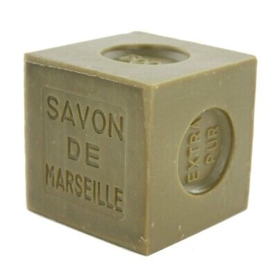French Marius Fabre Marseille Soap - 400g Cube Shaped Soap - Olive Olive French Soap