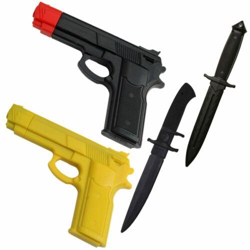 RUBBER PRACTICE  Dummy Gun & KNIFE Kit Training Costume Martial Arts Set